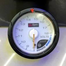 [出清]D1 Spec 賽車錶(白版)60mm電壓錶
