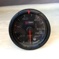 [出清]D1 Spec D1B006-2 七彩二代賽車錶(黑版)60mm油壓錶