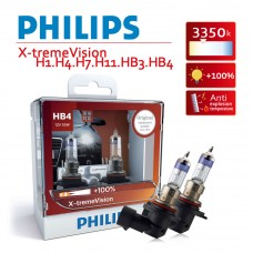 PHILIPS飛利浦 超極光X-tremeVision 增亮+100% 鹵素車燈 HB4 9006