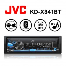 JVC KD-X341BT USB/MP3/AUX/藍芽/Android/Apple 無碟多媒體音響主機
