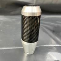 [出清]長型碳纖維手排檔頭K004C(銀色黑環)通用型