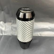 [出清]GDL長型碳纖維手排檔頭K004G(黑色銀環)