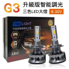 G3升級版智能調光三色LED大燈(2入)