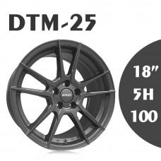 DTM-25 鋁圈 18吋8J 5孔 PCD100 鐵灰