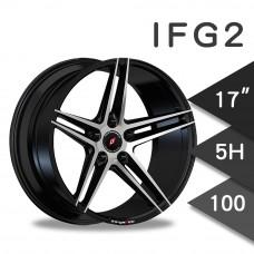 IFG2 (WL1911) 鋁圈 17吋7.5J 5孔 PCD100 黑底拋光
