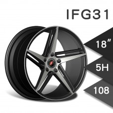 IFG31 (WL2237) 鋁圈 18吋8J 5孔 PCD108 黑底拋光
