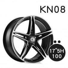 KN-08 鋁圈 17吋7.5J 5孔 PCD100 黑底拋光