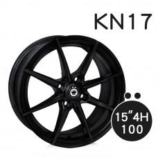 KN-17 鋁圈 15吋6.5J 4孔 PCD100 平光黑