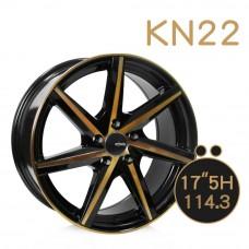 KN-22 鋁圈 17吋7.5J 5孔 PCD114.3 黑底古銅