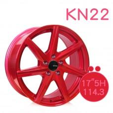 KN-22 鋁圈 17吋7.5J 5孔 PCD114.3 糖果紅
