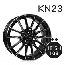 KN-23 鋁圈 18吋8J 5孔 PCD108 黑底拋光
