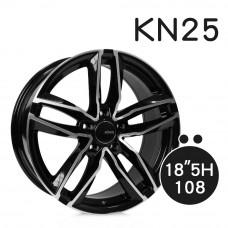 KN-25 鋁圈 18吋8J 5孔 PCD108 黑底拋光