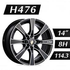 H476 鋁圈 14吋6J 8孔 PCD114.3 黑