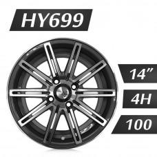 HY699 鋁圈 14吋6J 4孔 PCD100 灰
