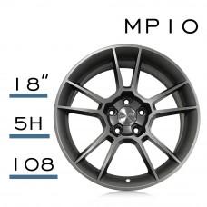 MP10 鋁圈 18吋8J 5孔 PCD108 平光深灰