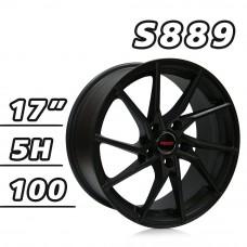 S889 鋁圈 17吋7.5J 5孔 PCD100 平光黑